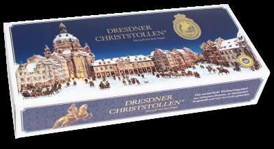2000g Dresdner Christstollen blauer Karton
